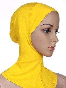 Image 4 - Zachte Onder Sjaal Hoed Cap Bone Motorkap Hijab Islamitische Hoofd Slijtage Hals Volledige Cover Inner Moslim Dame Elastische Ninja Vrouwen hoofddeksels Caps