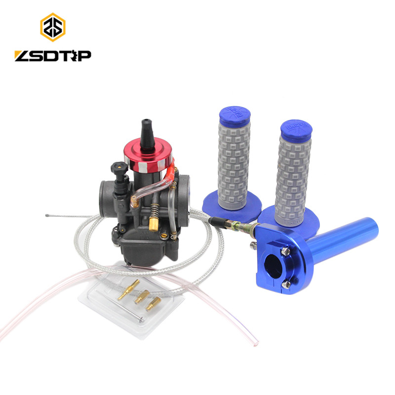 ZSDTRP Universal PWK 28 30 32 34 mm carburetor carburador for 2017 Mikuni new model with color hand grip cable stator for hs500 hisun500 model carburetor model