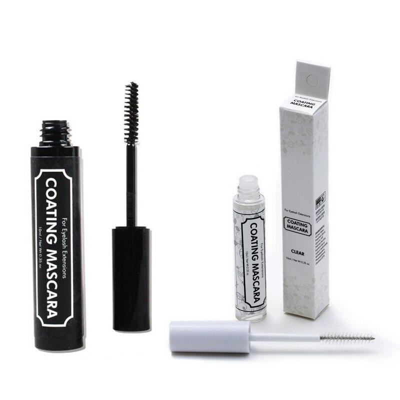 Eyelash Extension Black Coating Mascara 10ml Eyelash Care Coat Mascara Individual Fake Lashes Protective Coating Sealant tools
