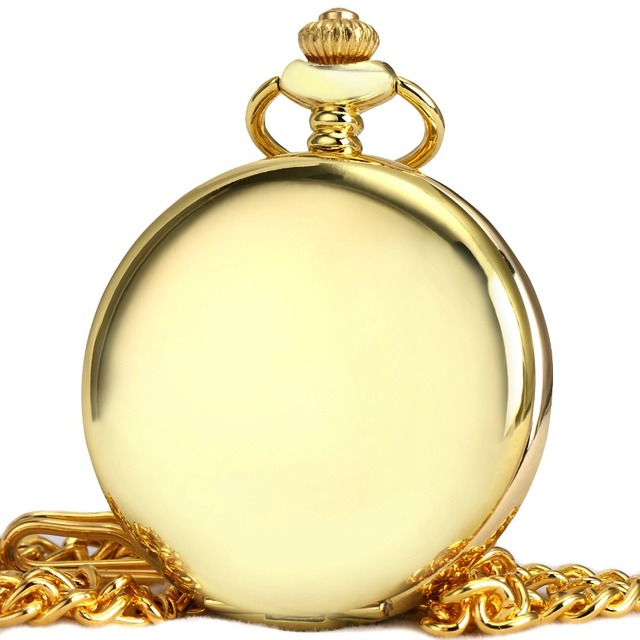 Luxury Golden Pocket Watches for Men Women TD Top Brand Ultra Thin Unisex Quartz