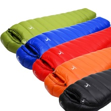 Ultralight Dock Down Sleeping Bag Camping Sleeping Bag Winter Autumn Mummy Sleeping Bag Camping Vacuum Bed Camping Accessories цена в Москве и Питере