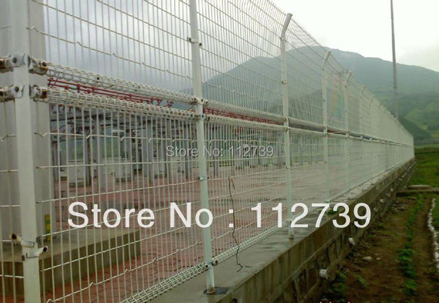 Double Loop Wire Mesh Fencing For Transformer Substation on