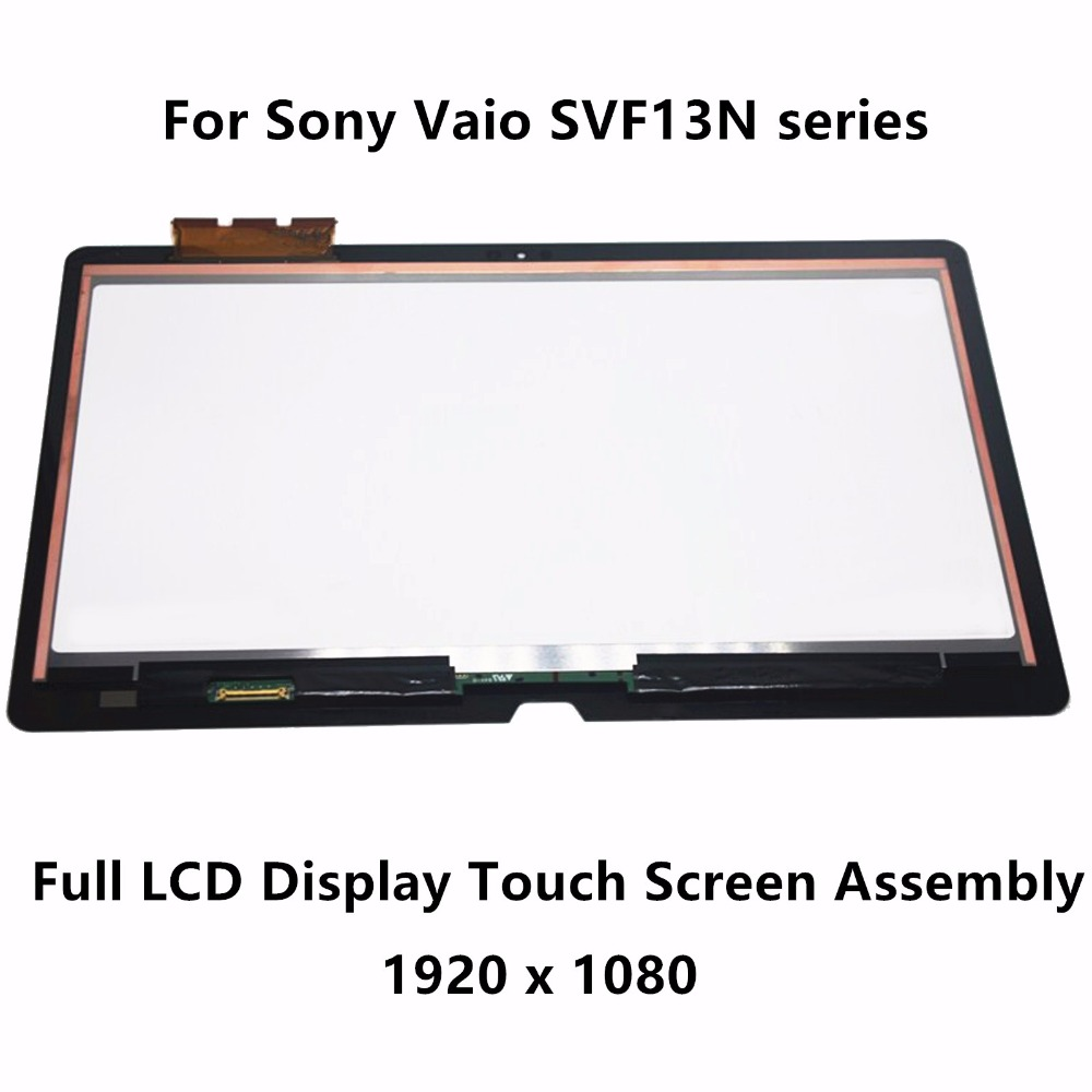 13.3 Full LCD Display Touch Digitizer Screen Assembly For Sony Vaio SVF13N25CDB SVF13N17PXS SVF13NA1UW SVF13N2L2ES SVF13N27PXB new 11 6 for sony vaio pro 11 touch screen digitizer assembly lcd vvx11f009g10g00 1920 1080