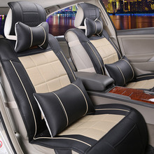 font b Sports b font Car Seat Covrers Square Car MATS All Leather Cushion Seating