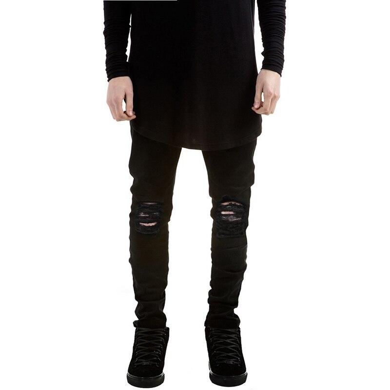 Kanye West Skinny Ripped Jeans For Men Male Black Motorcycle Camouflage Jeans Denim Pants Brand HUIHONSHE Hole Biker Jeans jeans west jeans west 21999 01