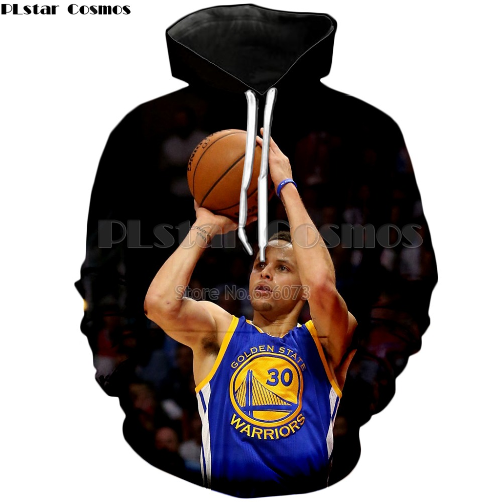 PLstar Cosmos 2018 New style Fashion Brand Hoodie Celebrities Stephen Curry Character Print Sweatshirt Mens Women Casual hoodies