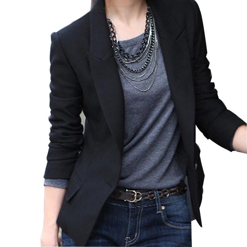 2018 Frühling Herbst Neue Frauen Kleine Anzug Jacke Koreanische Version Von Frau Allgleiches Dünne Beiläufige Anzug Große Größe Frauen War Dünne Blazer Fein Verarbeitet