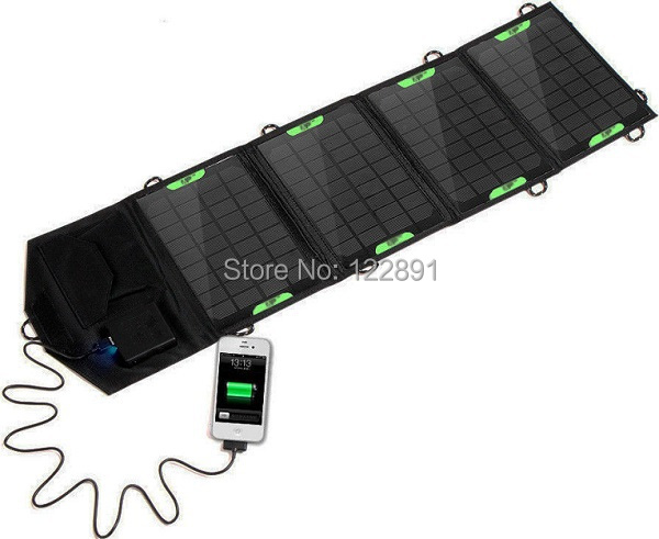 ФОТО HOT Sale 18V 14W Portable Folding Solar Charger Solar Panel External Battery Charger Backup For 12V Battery Charge Free Shipping