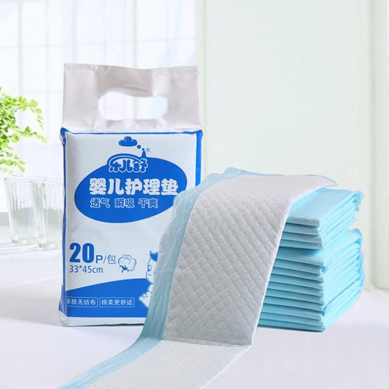 Baby Disposable Diaper Changing Mat Portable Foldable Travel Changing Pads Cover Infant Newborn Floor Mat Urine Mat 20pcs/15pcs