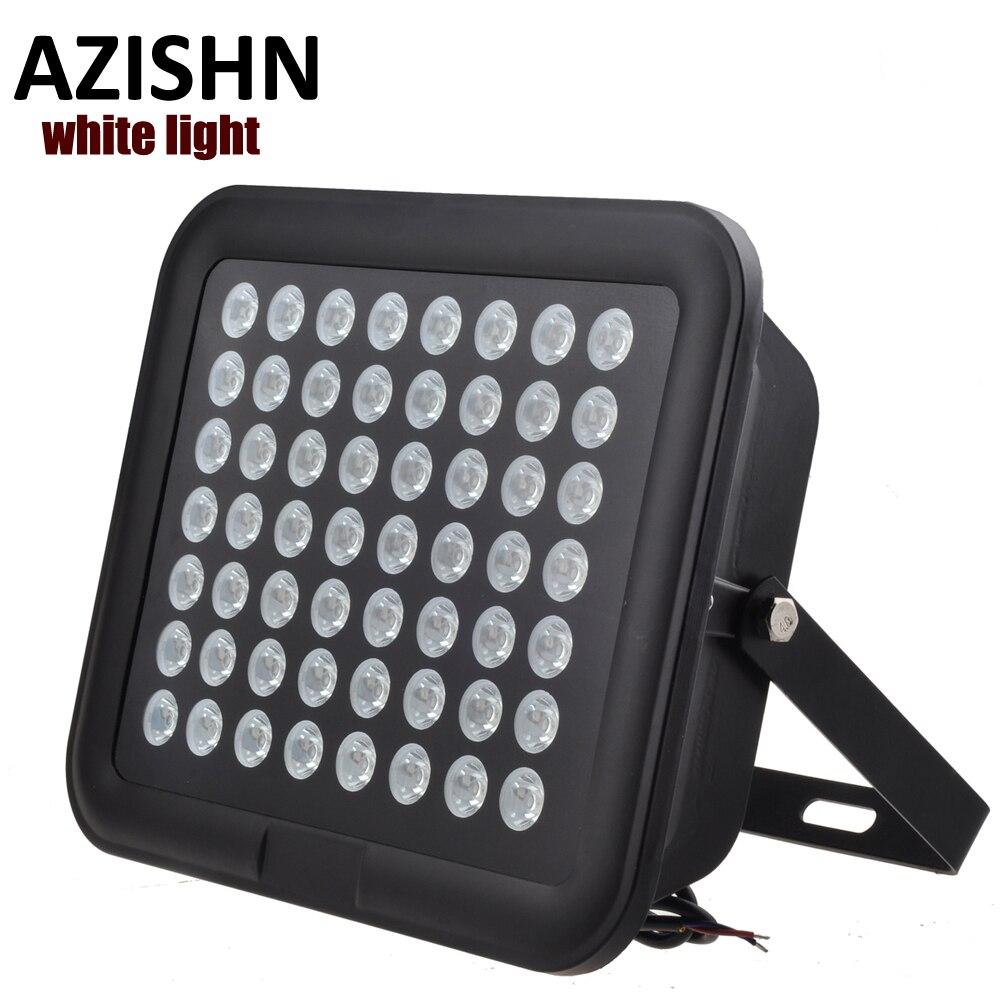 56PCS Array white LED CCTV LEDS Illuminator white Light Night Vision AC 220V IP65 metal CCTV Fill Light For CCTV Camera