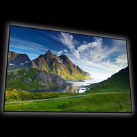F2VCG 4:3 VideoFormat 4K Thin Bezel Fixed Frame Projection Screen with cinema grey