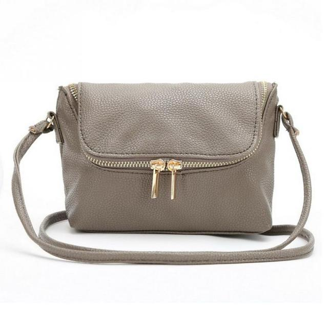 3451b2c8944f4 Cute Zipper Ladies Shoulder Bags Small Female Crossbody Bag Long Shoulder  Strap Messager Bags Soft PU