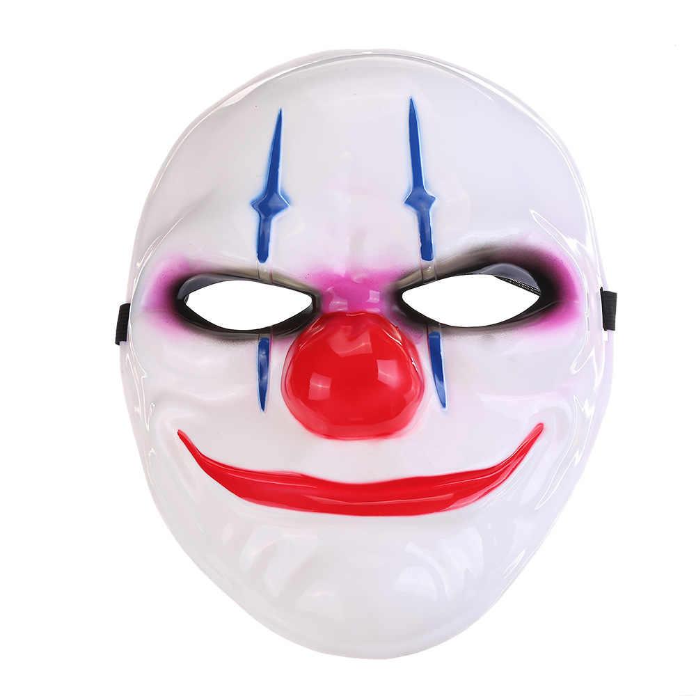 Chaude Halloween effrayant Clown Payday 2 masque Cosplay mascarade accessoire carnaval masque Joker Dallas loup Hoxton chaînes film accessoires masque