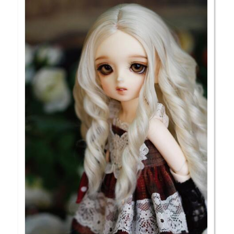 Beautiful Doll Wig Long Wavy Wigs for Dolls Accessories,Fashion Synthetic Doll Hair 1/4 1/6 BJD Wig Good Quality cheap synthetic hair wigs fashion wigs