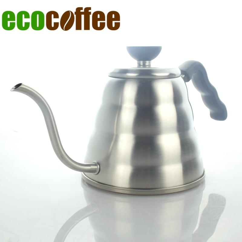 Envío gratuito 1200 ML 304 de acero inoxidable V60 Pour por goteo cafetera cuello de cisne té largo pico boca cafetera
