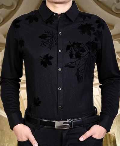 Men's Dress Shirt Brand 2016 Tops Mens Slim Fit Blouse Long Sleeve Fashion Dress Men Shirts Trim Shirts Cardigans Men Clothes