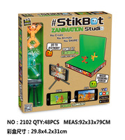 Stikbot Toy Sucker DIY Sticky Robot Dog Studio Action Figure Toy Kids Game Toys For Children