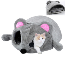 HELLOMOON New fashion fleece pet bed soft breathable Sprouting gray big mouse for small medium dogs  dog beds cat house