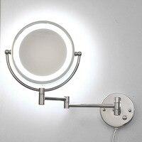 Двусторонняя серебряное зеркало состав Новый зеркало спереди свет бра спальни отель ванная светодиодный настенные светильники ZA FG471