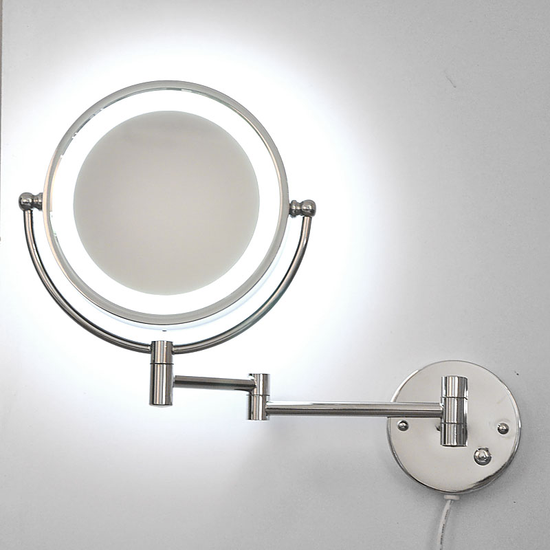 Crystal Torch Bedroom Wall Lamp Bathroom Mirror Front Wall: Double Sided Silver Mirror Composition NEW Mirror Front