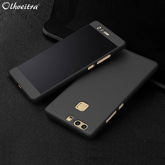 separation shoes 3f402 fbab9 US $2.53 29% OFF|360 Degree Full Coverage For Huawei P9 P9 Plus Cover  Protect Phone Housing case Accessories With Glass Film For Huawei P9  Plus-in ...