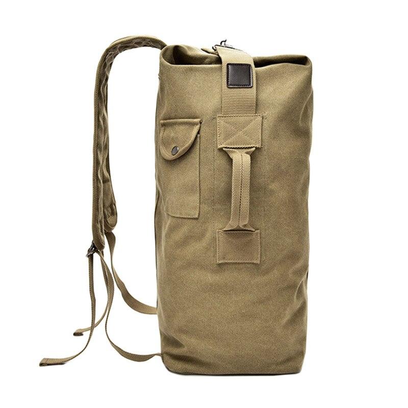 Gran capacidad 2 tamaño hombres mujeres deporte viaje gimnasio militar táctico escalada mochila bolsas lona cubo hombro deportes bolsa hombre