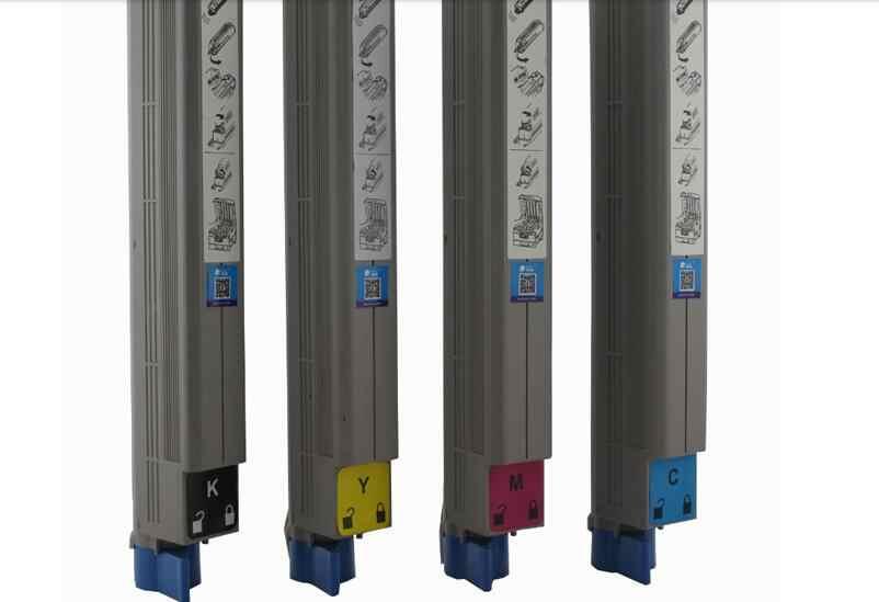 טונר צבע חדש 4 יחידות\סט טאנט Ilumina 502 לייזר מחסנית טונר מכונת צילום תואם עבור OKI מתכלה מדפסת ערכת טונר kcmy