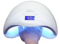 Sun5 плюс sun5plus 48 Вт двойной светодиодные УФ-лампы для ногтей Сушилка для ногтей Гель-лак отверждения свет с нижней 30 s /60 s/99 s таймер ЖК-дисплей д...