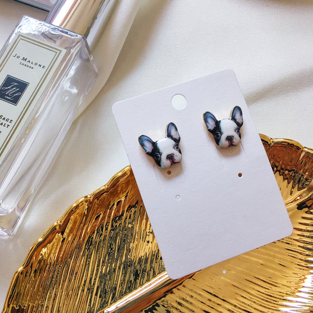 Small Dog Shaped Stud Earrings