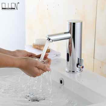 Deck Mounted Bathroom Sensor Sink Faucet Cold & Hot Hand Touchless Tap Automatic Inflated Sensor Faucet Crane ELS88 - DISCOUNT ITEM  23% OFF All Category