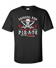 2017 Brand T Shirt Men Fashion Drinking Rum Before Noon Makes You A Pirate novelty drinking funny T Shirt