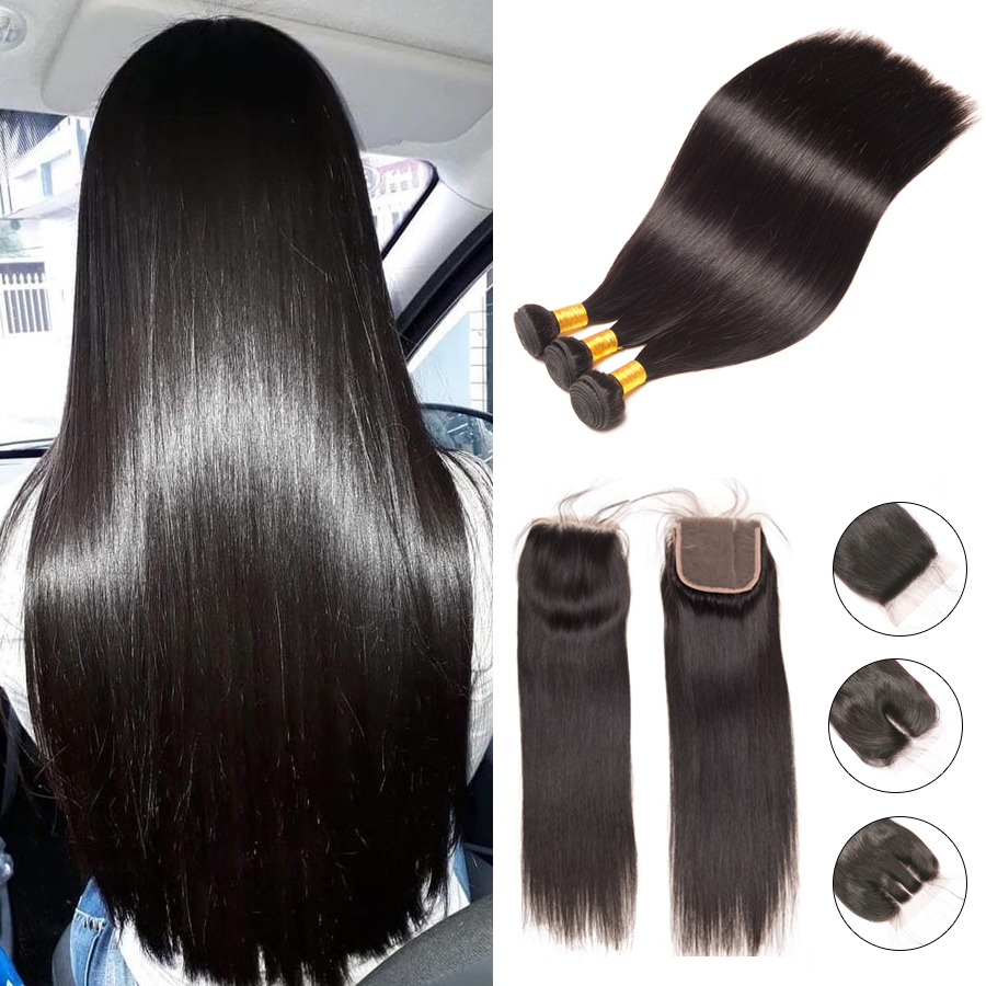 Human Hair Weaves Disciplined Peruvian Straight Hair Weave Bundles Can Be Mixed To Buy Natural Color 100% Human Hair Weave Bundles Non Remy Hair Extensions