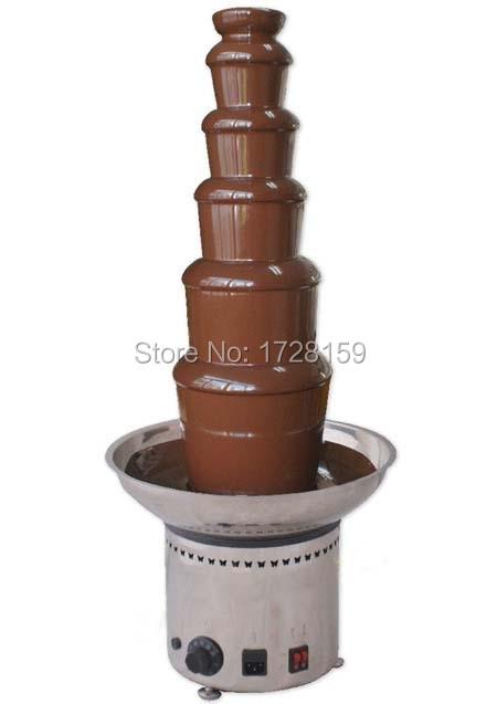 6 pakopų aukštis 82cm Dia 36cm 304 # Nerūdijančio plieno komercinis šokolado fontano aparatas šokolado krioklio mašina
