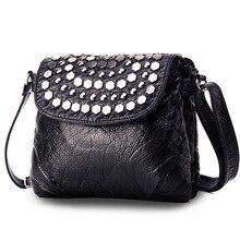 Leather Messenger Bag Women's Shoulder Bag Female Small Crossbody Bags for Women 2018 bolsas sac femme Rivet Mini Flap