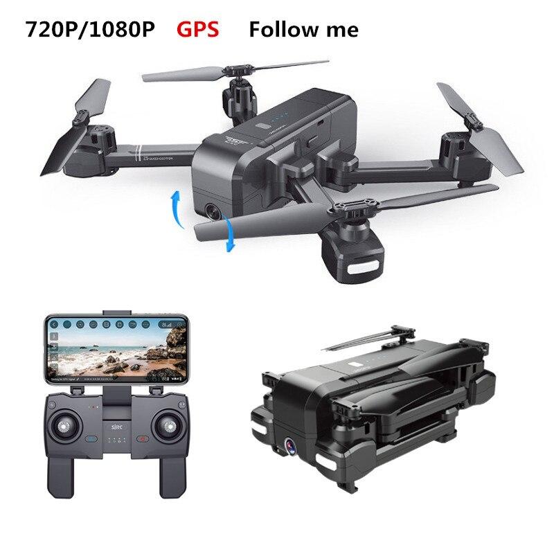 SJRC Z5 RC Drone GPS Eelfie quadrirotor avec WIFI FPV 720 P/1080 P caméra plié hélicoptère caméra réglable Dron VS XS812 B5W X16