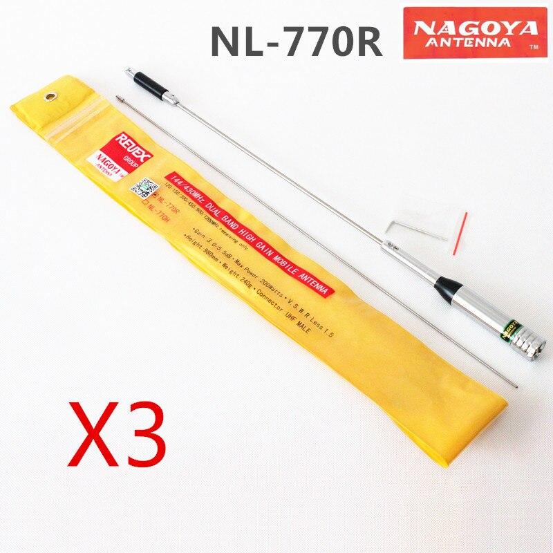 bilder für 3 stücke original nagoya nl-770r dual band 144/430 mhz high gain mobile antenne pl259 uhf männlichen für autoradio ft-8800 tm-481