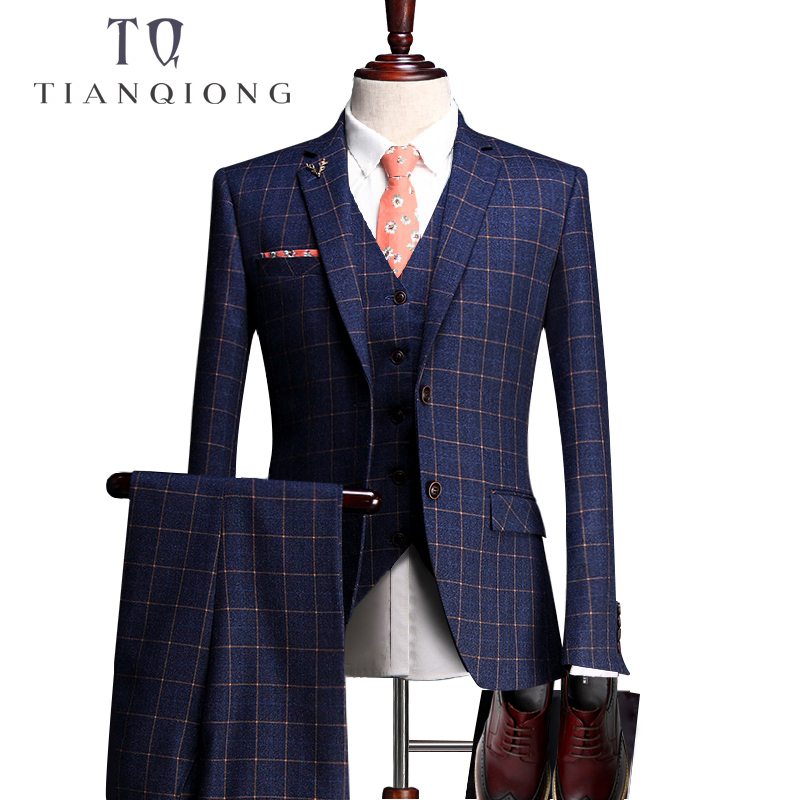 TIAN QIONG Custom Made Wedding Tuxedos Men Suits Taliored Event Ceremony Tuxedos Jacquard Wool Fabric(Jacket+Pants+vest+shirt)