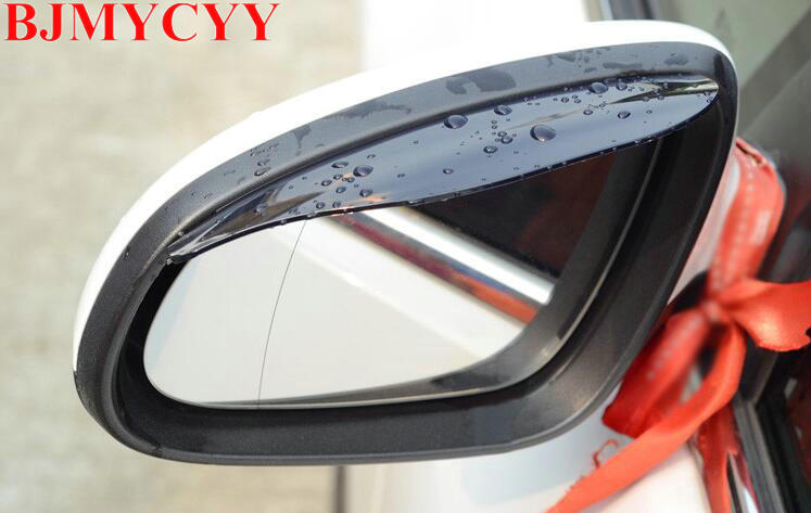 BJMYCYY Car Rear view Mirror sticker rain eyebrow for Kia RIO K2 KIA Rio K2 2009 2010 2012 2013 2014 2015 K5 accessories