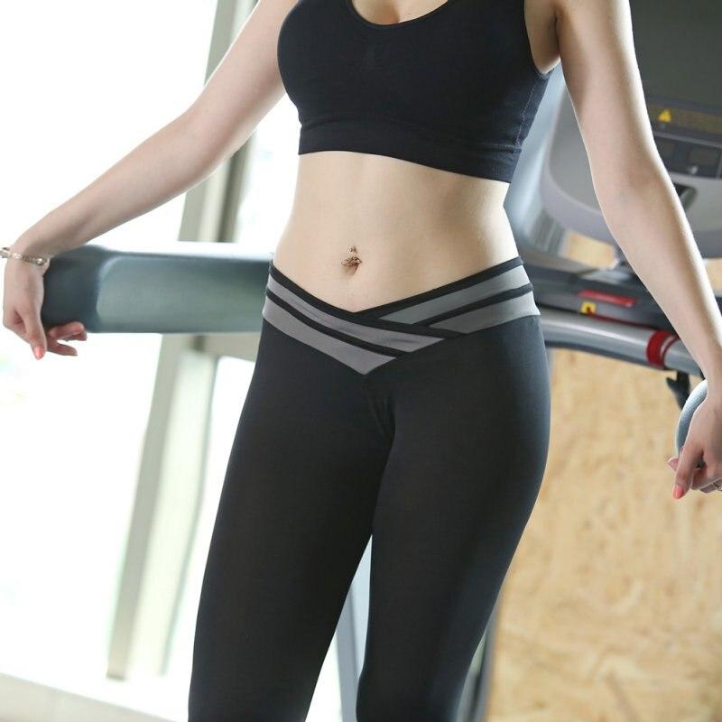 Lady Girls Light Weight Sports Yoga Pants Athletic Gym -7595