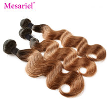 Mesariel Malaysian Body Wave Human Hair Bundles 1b/30 Two Tone Ombre Human Hair Extension 1/3/4 Bundles Deal Non-Remy Hair Weave(China)