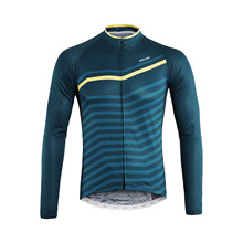 ARSUXEO Pro Men's Cycling Jersey Full Zipper Long Sleeve Breathable Spring Autumn MTB Road Bike Clothing with Reflective Stripe цена 2017