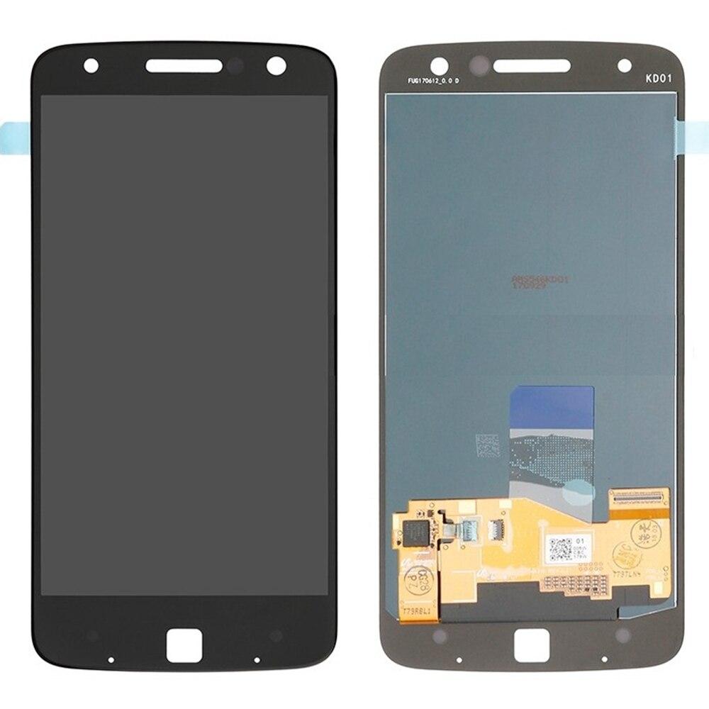 Pour Motorola Moto Z écran LCD de puissance et remplacement de l'assemblage du numériseur! (noir)