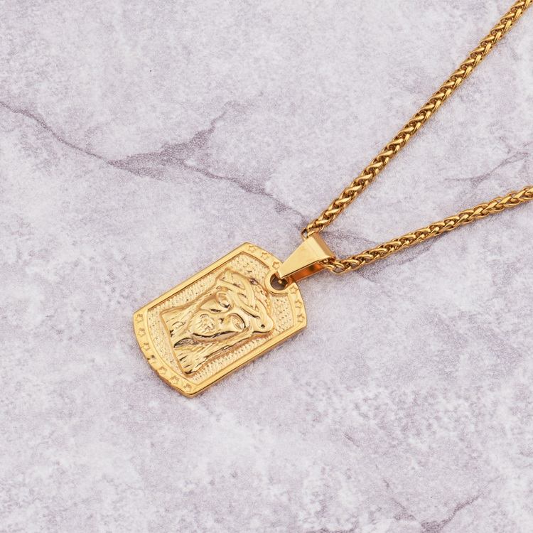 Mcsays hip hop jewelry jesus head square card gold color pendant mcsays hip hop jewelry jesus head square card gold color pendant link chain necklace for menwomen gift 4gm in pendant necklaces from jewelry accessories mozeypictures Image collections