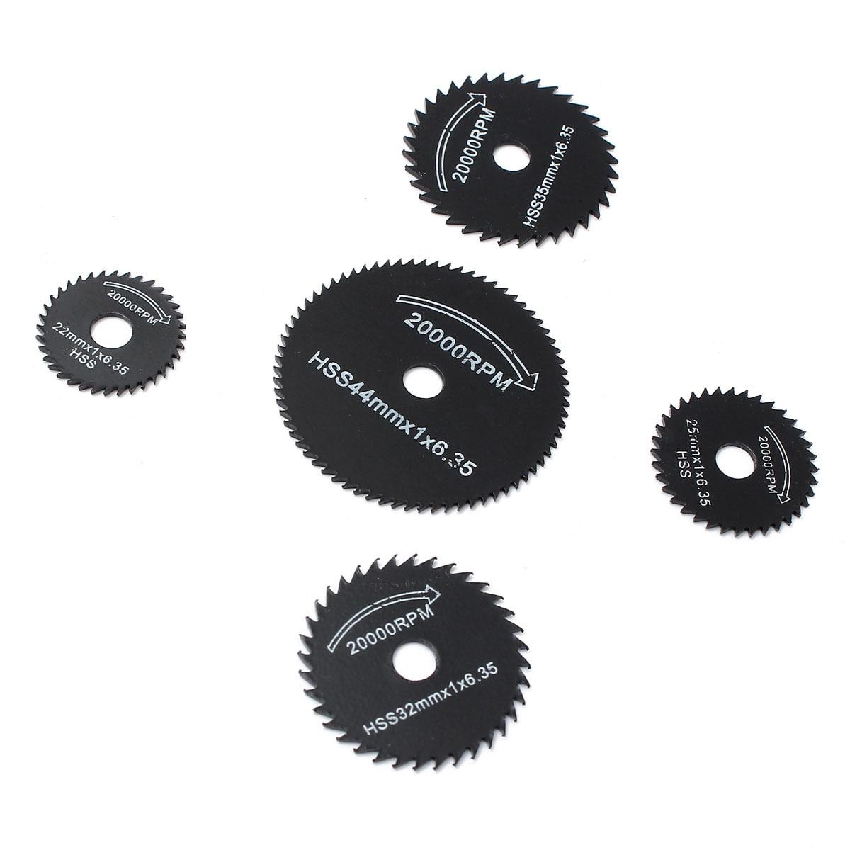 6 unids / set Metal HSS Hoja de sierra circular Discos de corte de - Hojas de sierra - foto 3
