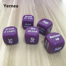 25mm 2Pcs/Lot Drinking Dice Acrylic Purple Round Corner Hexahedron Drinking Dice Portable Table Playing Games Dice Set Yernea truth or dare drinking dice