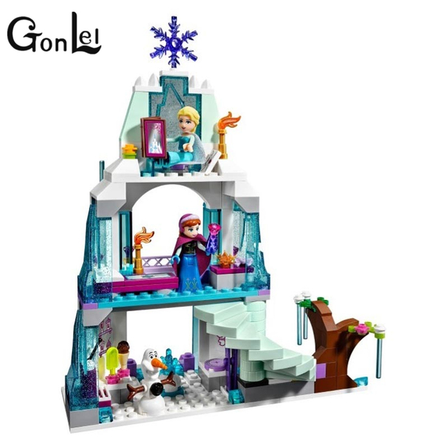 GonLeI Girls 41062 Elsa's Ice Castle Building Blocks Princess Anna Olaf Gifts Toys Compatible Princess