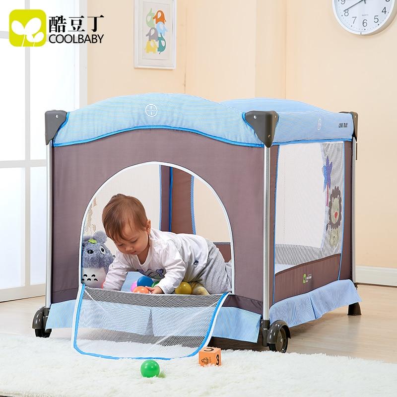 Multi funcional plegable bebé cuna portátil cuna juego de cama ...