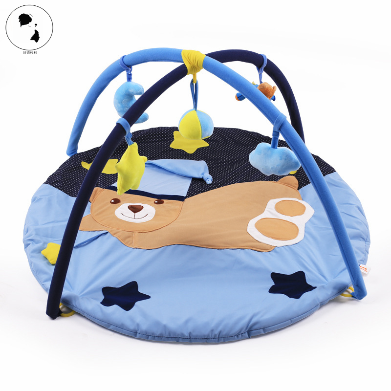 цена на New Kids Play Game Mats Round Carpet Cartoon Activity Crawling Blanket Floor Carpet for Kids Room Decoration INS Gifts Baby Toys