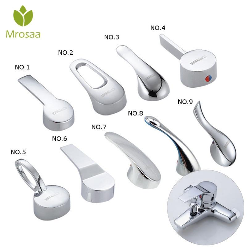 1 Pcs Mrosaa 35mm/40mm Faucet Cartridge Chrome Faucet Handle Switch Mixer Water Tap Decorative Cover Kitchen Faucet Accessories