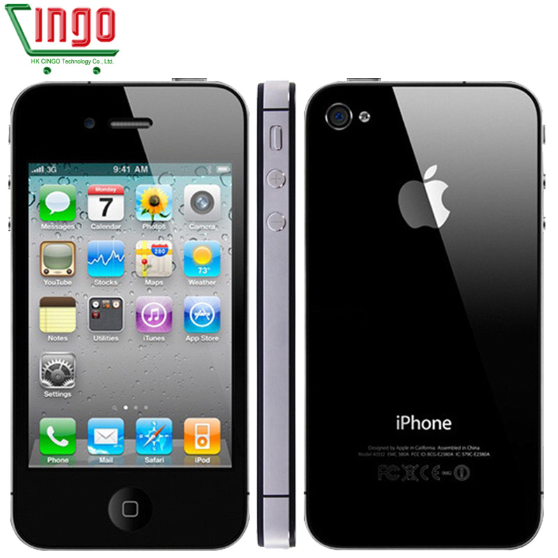 Original Unlocked iPhone 4S Mobile Phone 16GB 32GB 64GB ROM Dual core WCDMA WIFI GPS 8MP Camera Cell phone